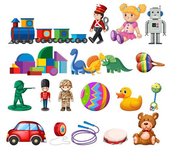 En uppsättning barn leksaker