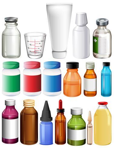 Set von medizinischen Behältern