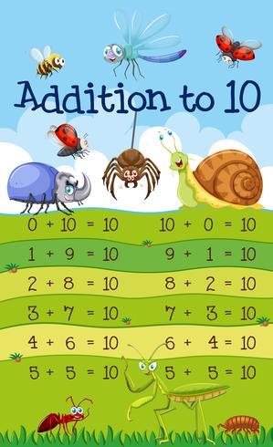 Uma adição matemática a 10 lições vetor