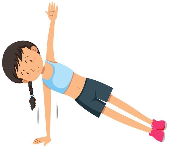 En ung kvinna vikt träningsträning