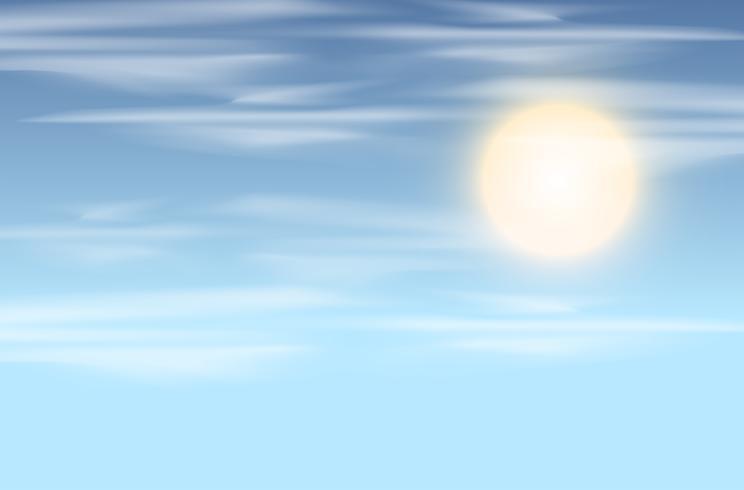 Himmel und Sonne Hintergrund