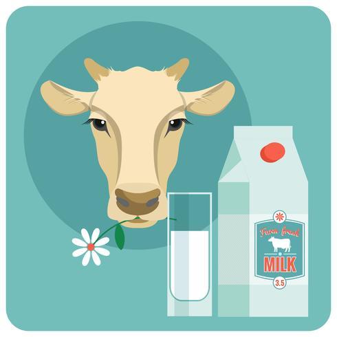 Illustrazione di vettore moderno design piatto di latte.