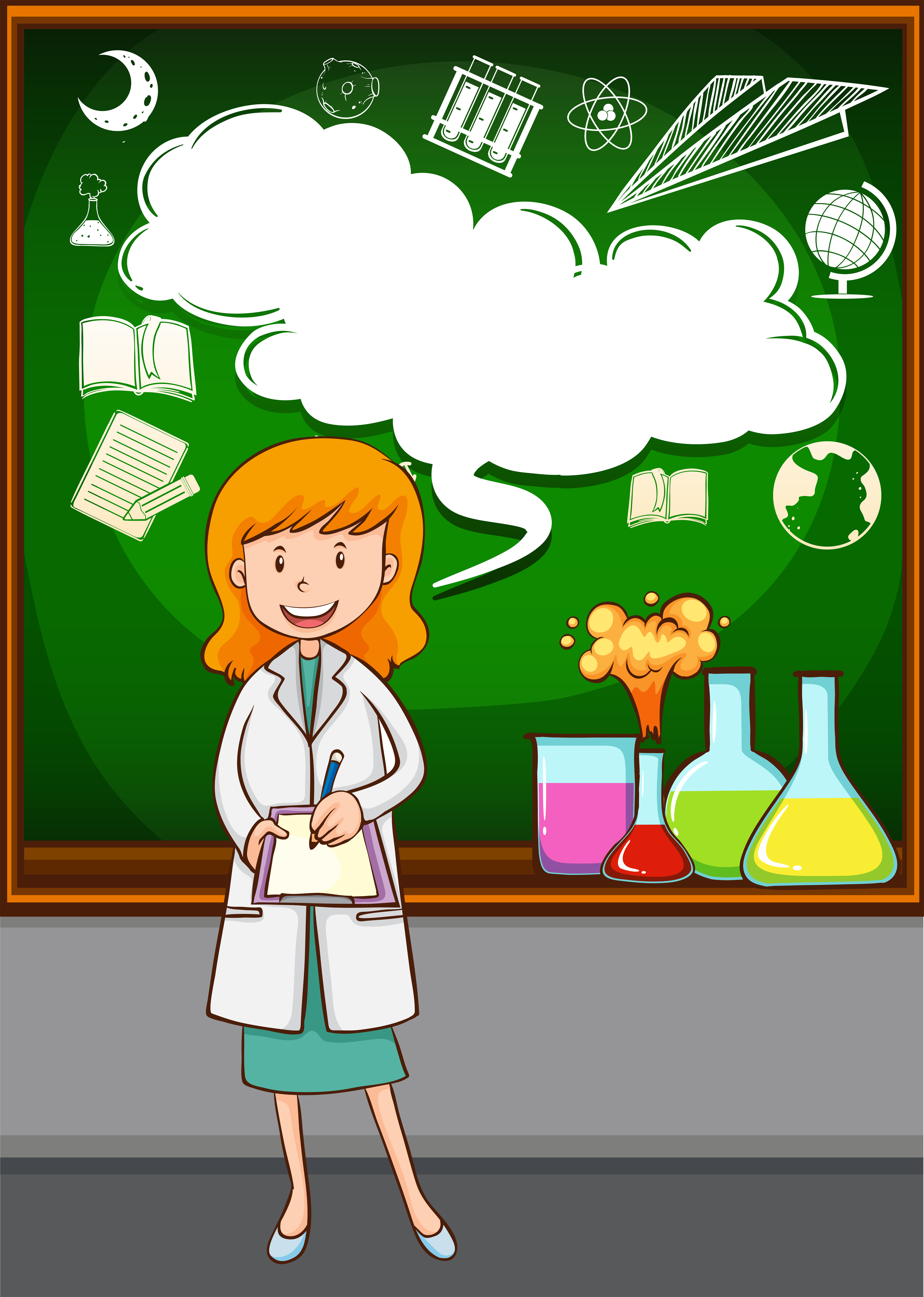 Science teacher teaching at school - Download Free Vectors ... (3959 x 5557 Pixel)
