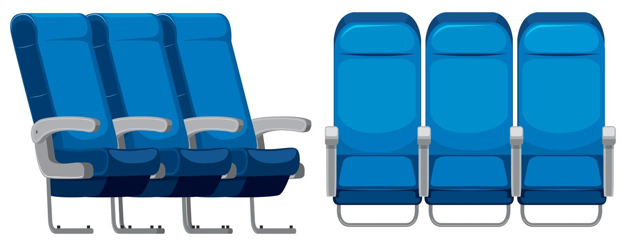 Set of airplane seat vector