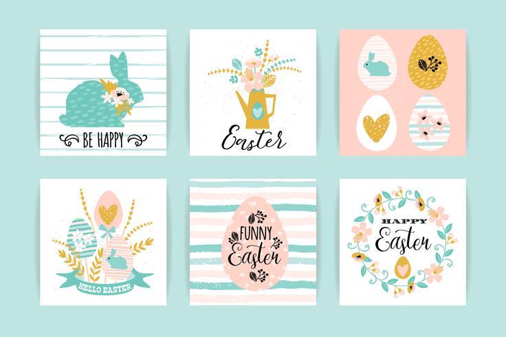 Felices Pascuas. Plantillas vectoriales con diseño de letras