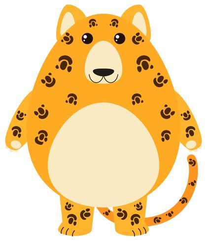 Luipaard met blij gezicht