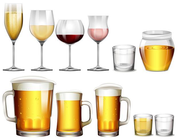 Verschillende soorten alcoholische dranken