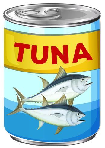 Kan av färsk tonfisk