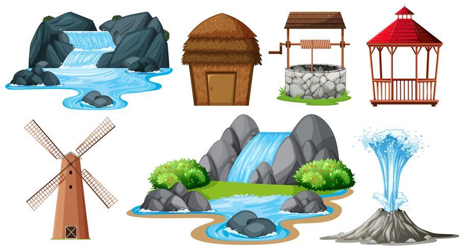 Set van verschillende objecten