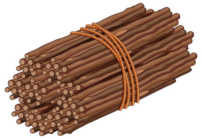 Holzstab in einem Bund