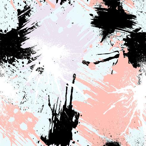 Abstraktes nahtloses Muster mit Bürstenanschlägen, Farbe spritzt und Steinbeschaffenheiten.