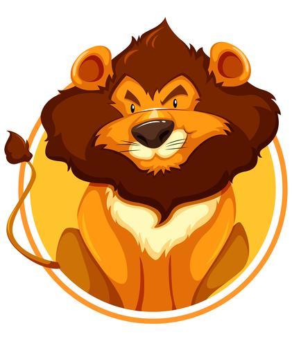 Lion on circle banner