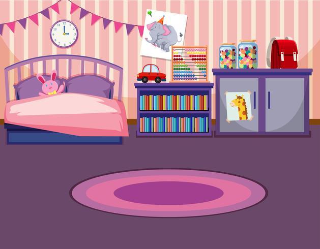 En flicka sovrum mall