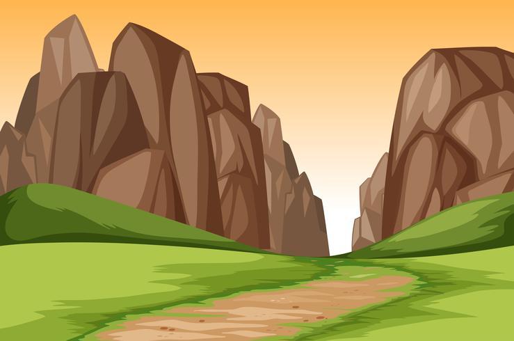 Sunset Canyon Landschaftsszene