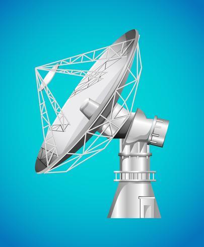 Satellietbasis met schotel