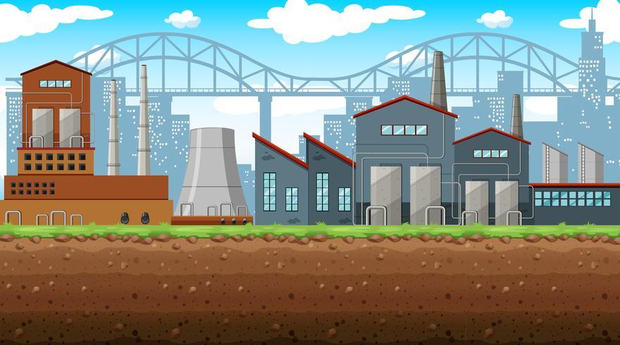 Fabriek op het veld