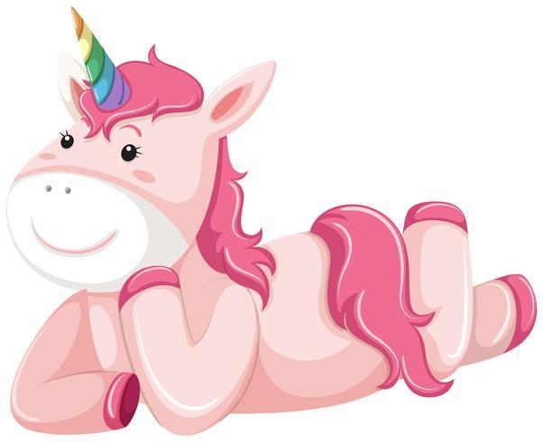 Un personaje rosa unicornio.