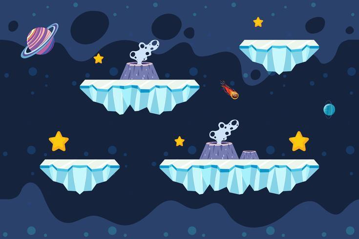 Plantilla de juego de hielo y espacio