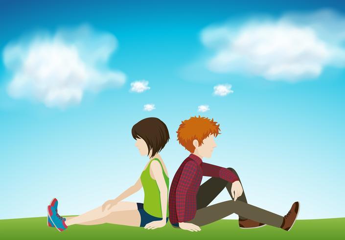 Due persone sedute insieme