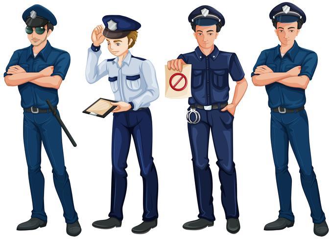 Vier Polizisten