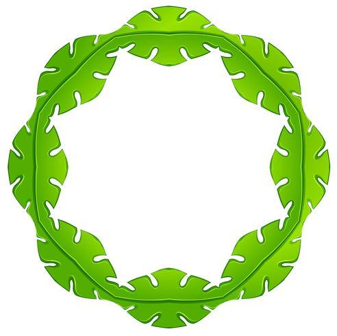 Ein belaubter Rahmen