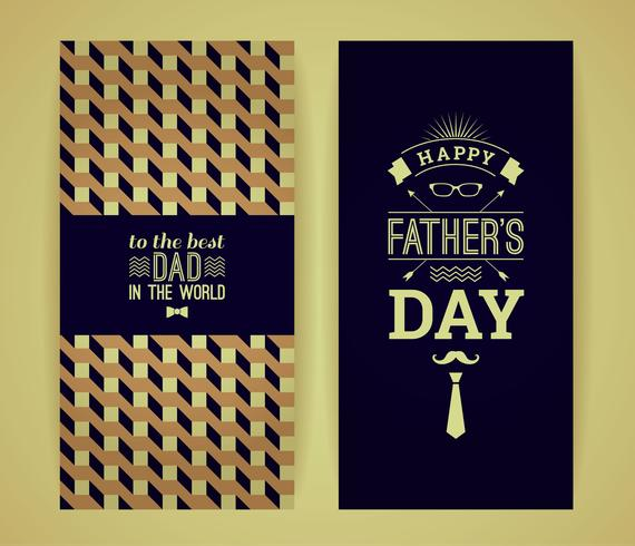 Gelukkige Vaderdagkaart in Retro Stijl.