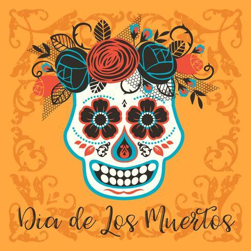 Dia de los muertos Dia de los Muertos. Elemento de diseño vectorial vector