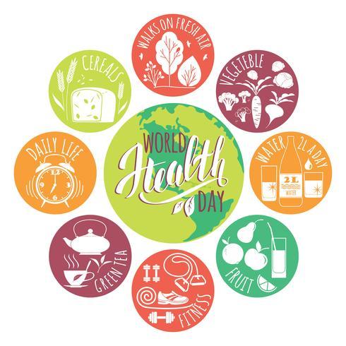 Världshälsodagskonceptet. vektor