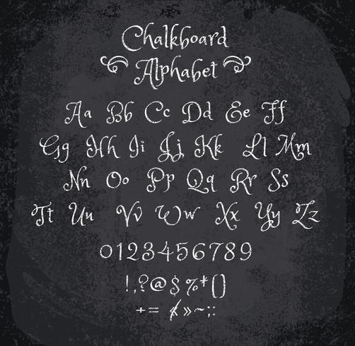 Ilustração do vetor do alfabeto riscado.