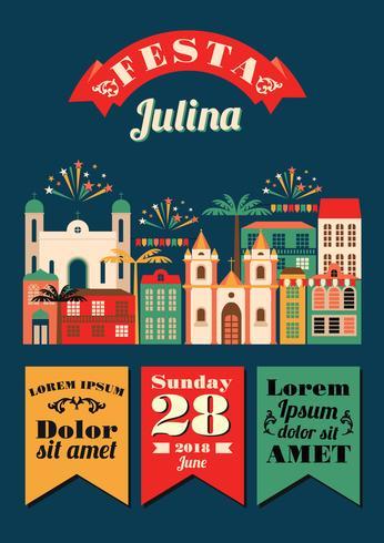 Fiesta latinoamericana, la fiesta de junio de Brasil.