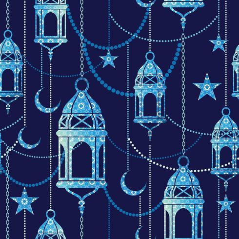 Ramadan background. Vector seamless pattern.