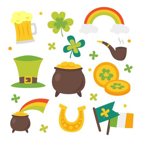 St Patricks Day Clipart Set Download Free Vectors Clipart