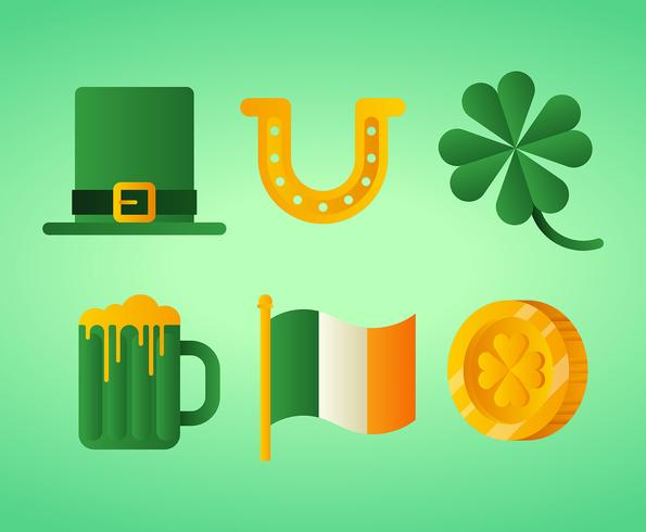 St Patricks Day clipart ensemble