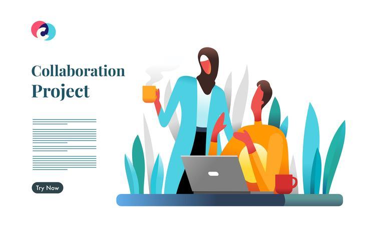 Projeto de Colaboração vetor