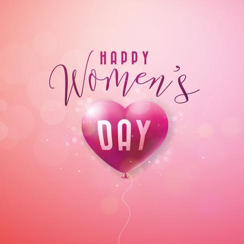 Lyckligt kvinnodag hälsningskort