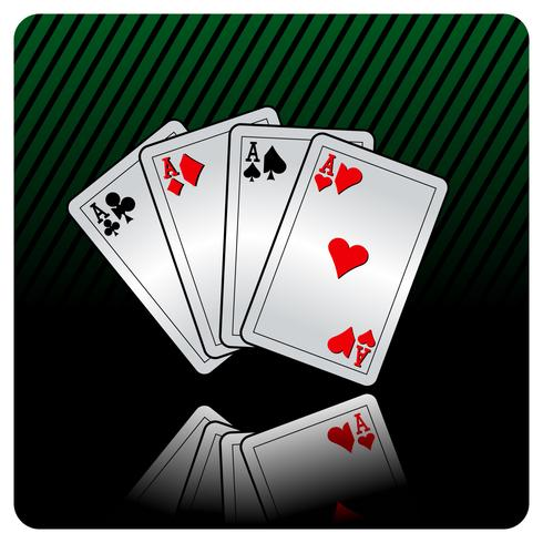 casino illustration with poker cards vector
