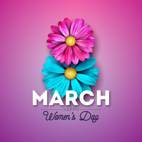 Tarjeta de felicitación del día de la mujer
