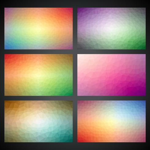 Vector geometric triangles background collection
