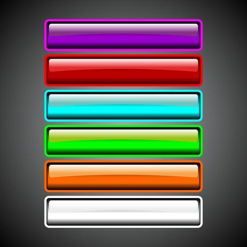 Glansig knappsamling