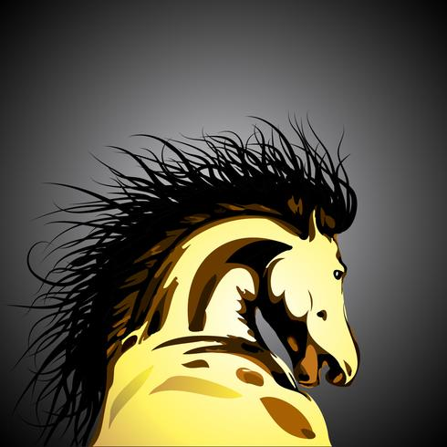 Vector wild paard illustratie