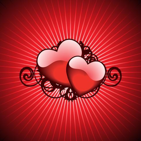 illustrazione di San Valentino con cuori adorabili