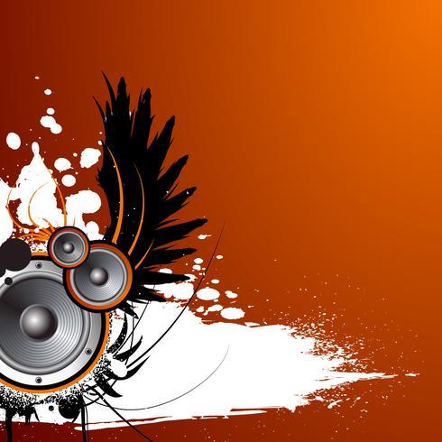 Musikillustration mit Flügel und Fleck