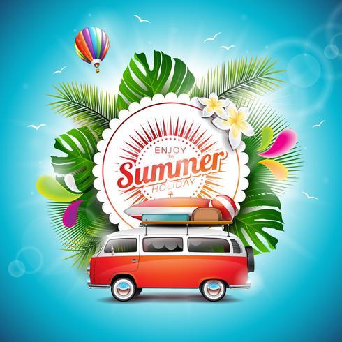 Enjoy the Summer Holiday typographic illustration