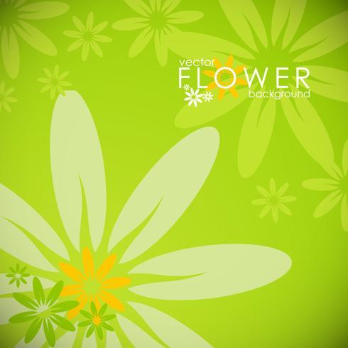 Vector ilustración de primavera con flores sobre fondo de círculo