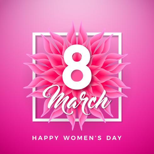 Tarjeta de felicitación del día de la mujer vector