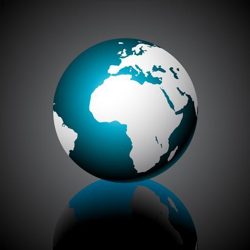 Vector ilustración de mapa del mundo