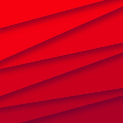 Abstrct Papercut stapt rode achtergrondvector