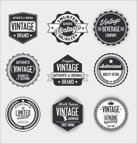Vintage etiketter och märken samling