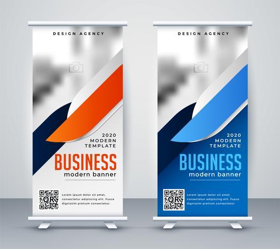 modernes Geschäft rollen Fahne Design-Vorlage