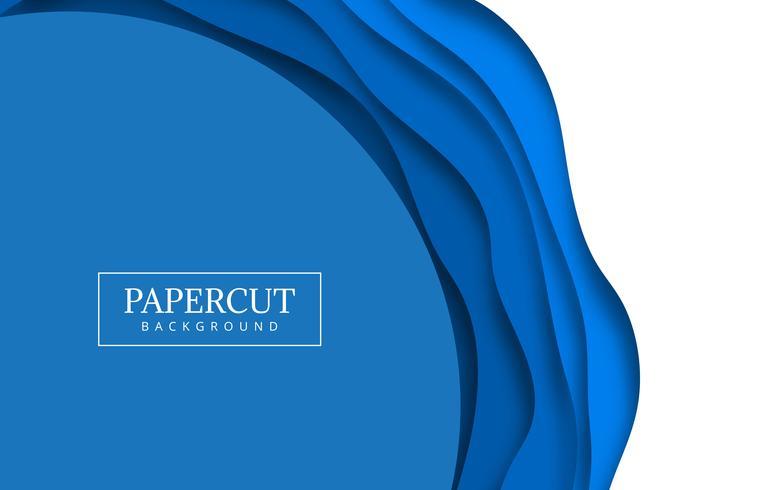 Illustrazione di disegno dell'onda blu di Papercut